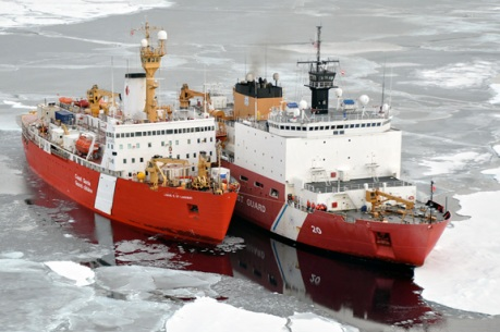 Canadian Coast Guard Ship Louis S. St-Laurent and Coast Guard Cutter Healy